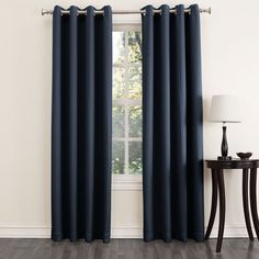 Home Classics Ethan Striped Blackout Window Panel - 54 x 63 Living Room Decor Curtains, Bedroom Drapes, Curtain Room, Home Curtains, Window Drapes, Grommet Curtains, Blinds For Windows, Window Panels, Panel Curtains