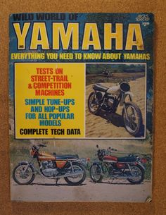 1973 Wild World of Yamaha TX750 RD250 RD350 SC500 MX360 MX250 AT3MX TD1 LT3 | eBay