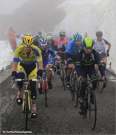 Climbing the Gavia out of the gate kept riders warm – just look at those bare arms.