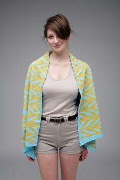 Navajo Scarf in Mint and Yellow Ochre via thief and bandit