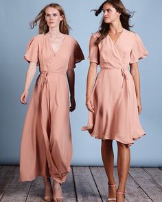 9c175215e3 The Florence and Tokyo dresses by Rewritten  pinkbridesmaidsdresses   pinkdress  rewrittenbridesmaids