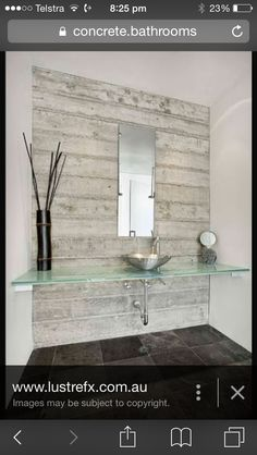 Concrete feature wall