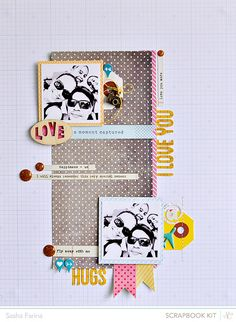 #papercrafting #scrapbook #layout idea: Sasha Farina #SCAntiquary