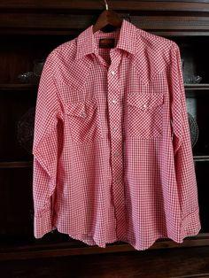 0acb4b6feec345 VINTAGE Stir Ups Mens Western Snaps L S Shirt Red White Gingham Check sz. L   fashion  clothing  shoes  accessories  vintage  mensvintageclothing (ebay  link)