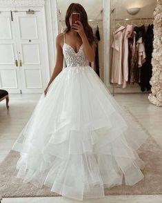 Pretty Wedding Dresses, Cute Prom Dresses, Wedding Dress Trends, Princess Wedding Dresses, Cheap Wedding Dress, Pretty Dresses, Bridal Dresses, Wedding Ideas, Ivory Wedding