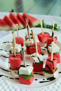 Bites of Bri   Watermelon Feta Mint Skewers   http://bitesofbri.com