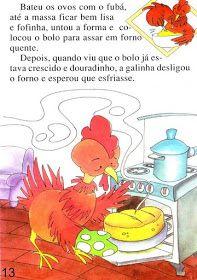 Página 13 do livro A GALINHA RUIVA Maine Coon, Nursery Rhymes, Winnie The Pooh, Disney Characters, Fictional Characters, Teddy Bear, Education, Rooster, Blazer