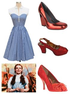 A Dorothy Gale from The Wizard of Oz Costume featuring the Hopscotch Dress in blue gingham  sc 1 st  Pinterest & Judy Garlandu0027s original dress from The Wizard of Oz goes up for ...