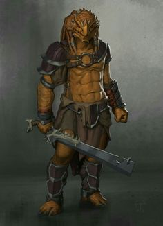 Half Dragon Rogue - Pathfinder PFRPG DND D&D d20 fantasy