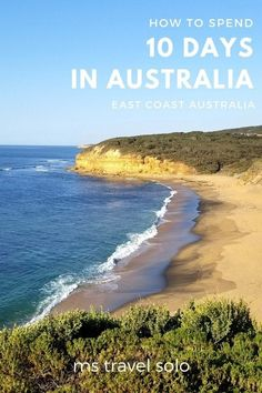 How to Spend 10 days in East Coast Australia - ms travel solo - mariasimons. Melbourne, Sydney, Coast Australia, Visit Australia, Australia Honeymoon, South Australia, Travel Around The World, Around The Worlds, Attraction