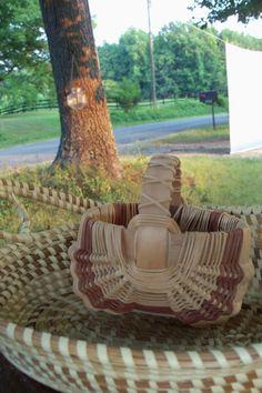 Basket Two Toned Double Basket Unique & Smart by AntiquesandVaria, $14.20