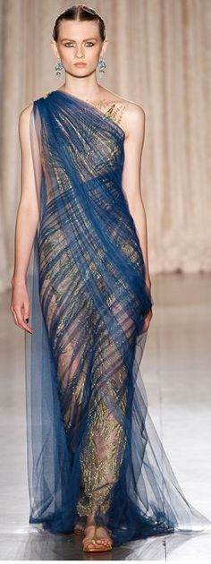 def my first outfit as a Greek goddess. Marchesa Spring 2013 rtw