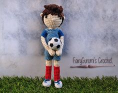 Louis the soccer player english PDF by FairyGurumisCrochet on Etsy