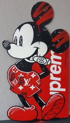 Mickey Mouse Wallpaper Iphone, Dope Wallpaper Iphone, Simpson Wallpaper Iphone, Dope Wallpapers, Iphone Wallpapers, Aesthetic Wallpapers, Looney Tunes Funny, Dagobert Duck, Supreme Art