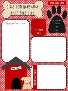 Themed Newsletter FREEBIE - Bee, Owl, Cupcake, Puppy, Kitten