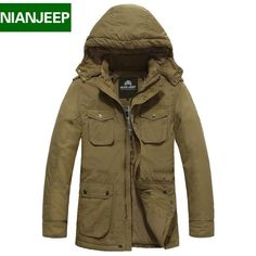 (52.18$)  Watch now - http://aidue.worlditems.win/all/product.php?id=32371273162 - Plus size 4XL loose winter brand men down jacket Nianjeep New  2016 100% cotton thick warm mens winter jackets and coats