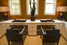 Double Desk Idea Luxury Modern Homes Home Offices E