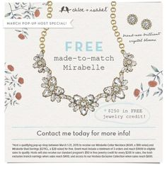 Host a pop up shop and earn FREE jewelry!