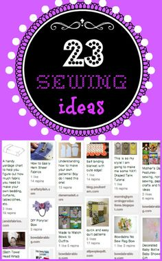 23 Sewing Ideas
