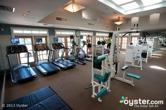 top gym decor  | skylight and ample windows keep the fitness center at the Fairmont ...