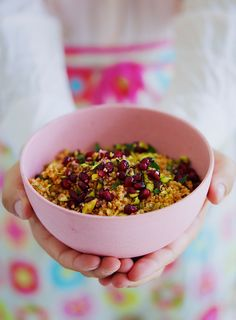 Couscous med granatæble, mynte og pistacie