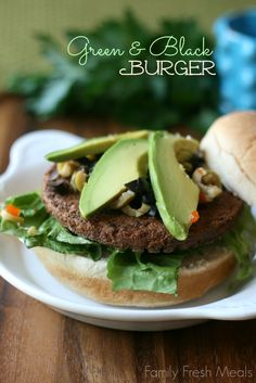 Green and Black Burger - Family Fresh Meals