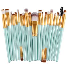 20Pcs Complete Eye Set Eyeliner Brow Eyeshadow Eyeliner Lip Brushes Kits So8