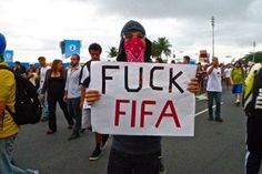 Citizens at Brazil's 2014 FIFA World Cup are unhappy about the money spent on games instead of social needs like education.