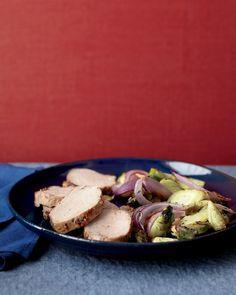 ... pork loin pot roasted pork loin with fall fruits recipes dishmaps