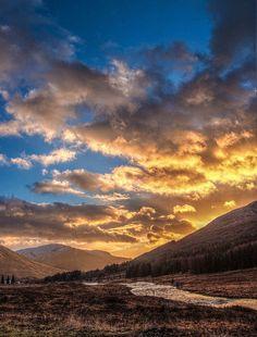 Golden Sunset over Glen Orchy
