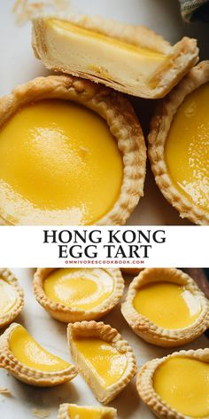 Authentic Chinese bakery style Hong Kong egg tart that features flaky crumbly pastry crust filled with a sweet creamy custard that you'll want to eat morning, noon, and night! Egg Tarts Recipe Easy, Egg Tart Recipe Hong Kong, Egg Custard Tart Recipe, Easy Tart Recipes, Best Dessert Recipes, Baking Recipes, Asian Recipes, Potluck Recipes, Chinese Recipes