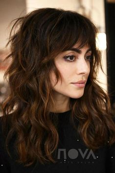 shag hairstyles Long - 60 Lovely Long Shag Haircuts for Effortless Stylish Looks Warm-Toned Wavy Brunette Shag Hairstyle A long shag with bangs is super trendy and can b… Long Shag Hairstyles, Long Shag Haircut, Trending Hairstyles, Hairstyles With Bangs, Straight Hairstyles, Cool Hairstyles, Medium Shag Haircuts, Hairstyle Men, Long Curly Haircuts