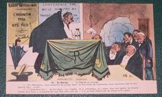 "Anti-absinthe propaganda included this picture, with its famous play on words: ""L'Absinthe perd nos fils."""