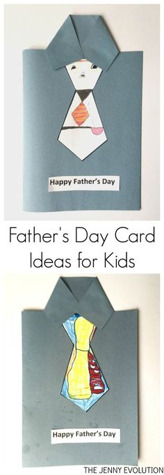 Father's Day Card Ideas for Kids - Easy enough to do last minute!