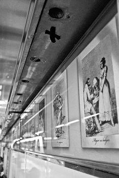 Grabados Goya, parada de metro Goya. Madrid.
