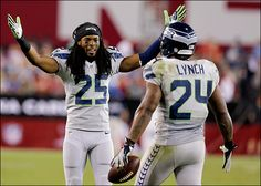 #Seahawks Richard Sherman & Marshawn Lynch