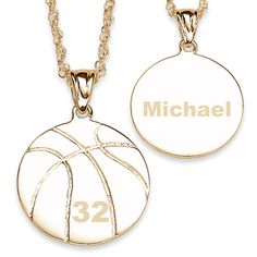 Buy Engraved Basketball Necklace at Limoges Basketball Practice, Basketball Workouts, Basketball Gifts, Basketball Quotes, Women's Basketball, Volleyball, Cute Jewelry, Jewelry Art, Basketball Necklace