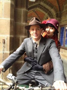 Jack  Phryne ~ Miss Fisher's Murder Mysteries  Such a perfect pair!