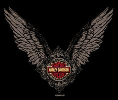 Good old Harley Davidson all-things-angel Old Harley Davidson, Harley Davidson T Shirts, Harley Davidson Motorcycles, Biker Tattoos, Motorcycle Logo, Biker Quotes, Harley Bikes, Biker Chick, Good Old
