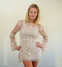 Outstanding Crochet: New project is finally done! Tunic / beach wear.