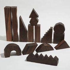 Sculptural Building Blocks Edition by Noah Spencer via fortmakers-wood, blocks, toys