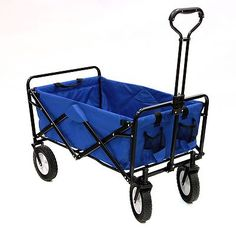 Mac Sports Blue Collapsible Folding Utility Wagon Garden Cart Shopping Beach Toy on eBay!