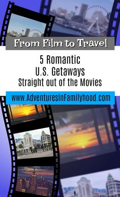 Step into the scenes of your favorite romantic movie by traveling to these 5 U. Getaways Inspired by Romantic Movies Romantic Resorts, Romantic Destinations, Romantic Vacations, Romantic Getaways, Romantic Travel, Travel Destinations, Travel With Kids, Family Travel, Kids Zoo