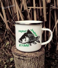 Plecháček pro rybáře s Kaprem jméno na přání Military, Mugs, Tableware, Dinnerware, Tumblers, Tablewares, Mug, Dishes, Place Settings
