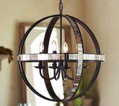 Dumont Mirrored Chandelier | Pottery Barn