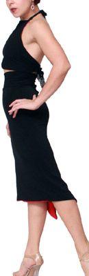 Classic Tango Skirt in black (reversible)