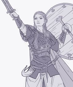 """foxy-nerdy: """"Sketch - Viking Queen by Magnus Norén """" Viking Character, Fantasy Character Design, Character Creation, Character Concept, Character Inspiration, Character Art, Concept Art, Character Ideas, Anime Art Fantasy"""