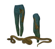 #Printed #Leggings #Snake #Reptile #Womens #Fashion Yoga Exercise Leggins #Workout #Capris #Sportswear Teal by WhimZingers on Etsy