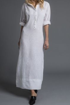 Free sewing instructions including pattern: Maxi linen dress – initiative handmade Source by boerlinerin Fashion Tips For Women, Diy Fashion, Fashion Outfits, Fashion Sewing, Linen Dress Pattern, Dress Patterns, Pattern Sewing, Pdf Patterns, White Kurta