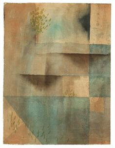Paul Klee (Swiss-German, 1879-1940), Die Mauer (Grösseres Blatt) [The Wall (large sheet)], 1929. Watercolour on laid paper, 45.8 x 34.6 cm.